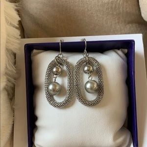 Premier Designs Silver earrings new in bag